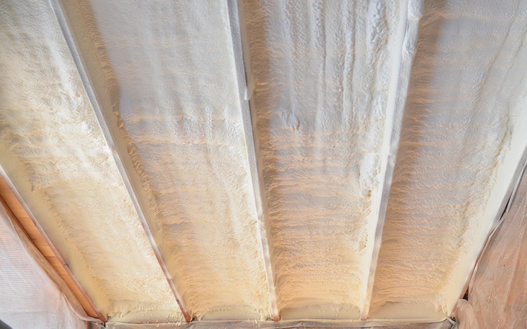 SPF Coating of Roof