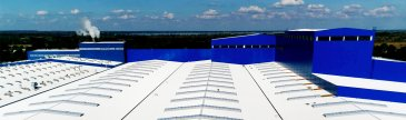 White and Blue commercial roofing