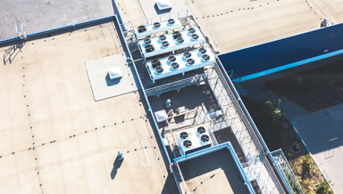 Overhead of Commercial Roof