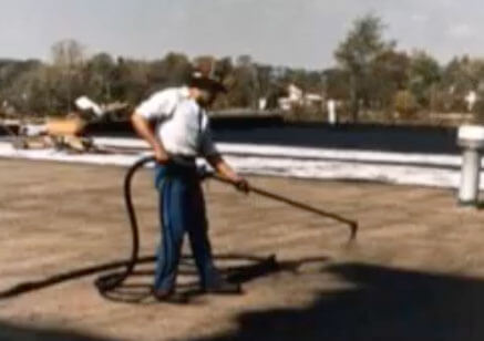 Joe Jackson Spraying commercial Roof