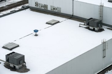 Snowy Commercial Roof