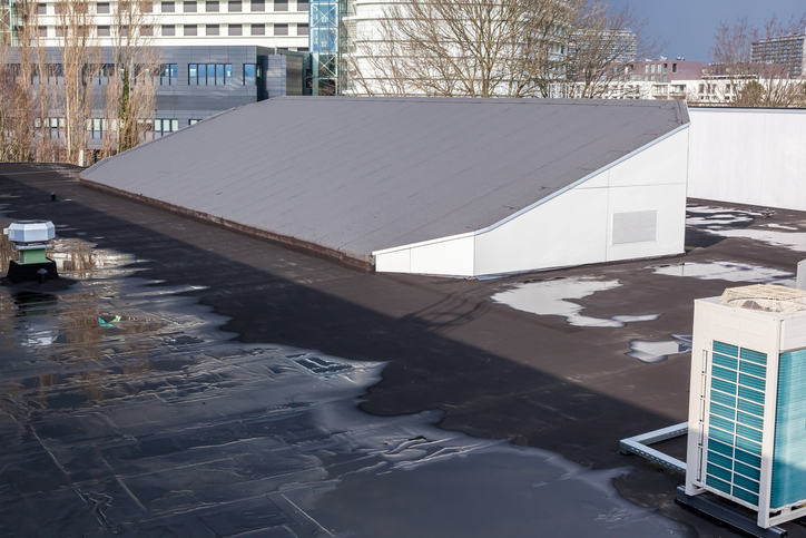 Slopping Commercial Roof